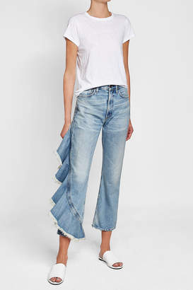 Citizens of Humanity Cropped Jeans with Ruffle Trim $429 thestylecure.com