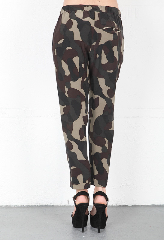 Haute Hippie Narrow Trouser in Fatigue Multi