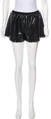 Anna Sui Faux Leather Mini Shorts