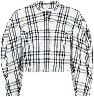 Rosie Assoulin plaid cropped jacket