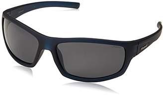 Polaroid men's P8411 Rectangular Sunglasses, BLACK