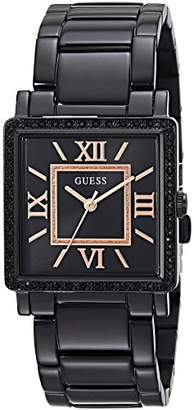 GUESS Women's Stainless Steel Retangular Ion-Plated Casual Watch