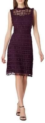 Tahari Arthur S. Levine Cutout Lace Sheath Dress