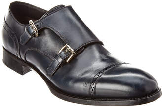 Brioni Goodyear Leather Double Monk