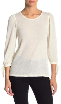 Lucky Brand Tie Sleeve Loose Knit Top