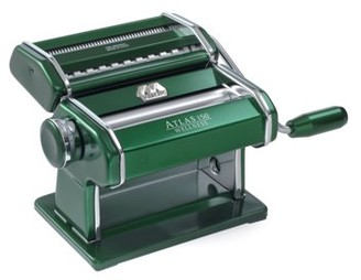 Marcato Atlas Made in Italy Pasta Machine, Made in Italy, Green, Includes Pasta Cutter, Hand Crank, and Instructions