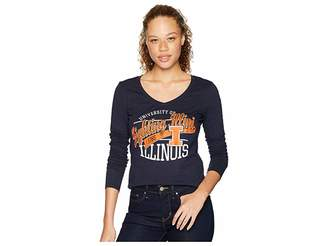Champion College Illinois Fighting Illini Long Sleeve V-Neck Tee Women's T Shirt