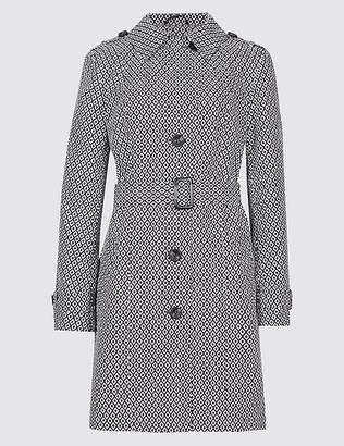 Marks and Spencer Printed Trench Coat with StormwearTM