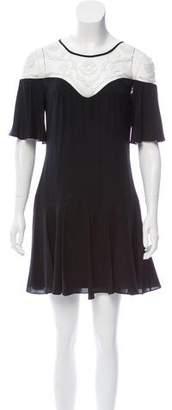 Temperley London Lace-Trimmed Silk Dress