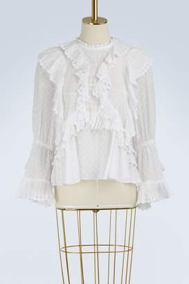 Isabel Marant Zim ruffled blouse
