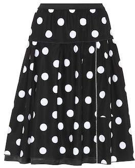 Marc Jacobs Polka dot stretch-cotton skirt