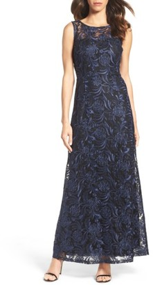 Women's Ellen Tracy Corded Mesh Gown $218 thestylecure.com
