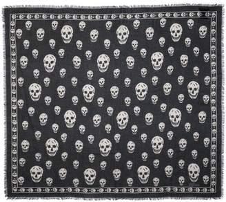 Alexander McQueen Skull Silk And Modal Scarf