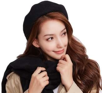 8fcec2310c8 Cloche Telamee Womens Vintage Wool Beret Retro Fedoras Bucket Winter Bucket  Hats