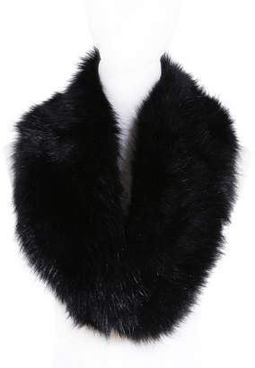 soul young Faux Fur Collar for Women,Ladies Winter Scarf Neck Warmer Wrap