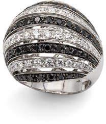 Leo Pizzo Concerto Dome 18k White Gold Black & White Diamond Ring