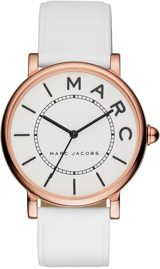 Marc By Marc JacobsMarc by Marc Jacobs Women's Roxy White Leather Strap Watch 36mm MJ1561