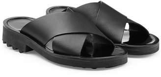 Robert Clergerie Bartt Leather Sliders