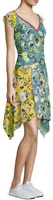 Tommy Hilfiger Patchwork Floral Silk Dress