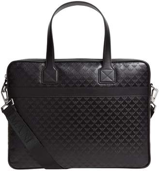 Leather Eagle Embossed Briefcase