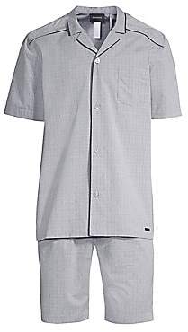 Hanro Men's Theo 2-Piece Short-Sleeve Pajama Set