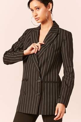 Forever 21 Pinstripe Double-Breasted Blazer