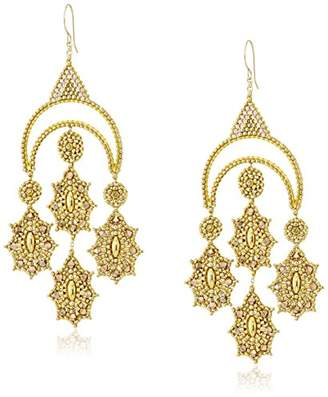 Miguel Ases Large -Tone Crescent Chandelier Drop Earrings