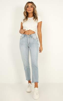Showpo Leila Jeans in light wash denim - 6 (XS) Jeans