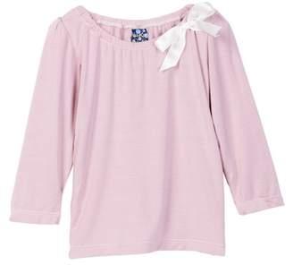 Kickee Pants Solid Long Sleeve Bow Tee (Baby Girls)