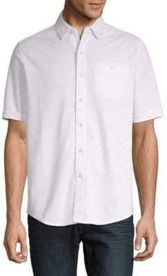 Saks Fifth Avenue Polynosic Button-Down Shirt