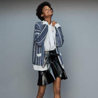 Maje Oversize jacket in jacquard knit