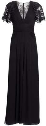 Jenny Packham Claudette Lace Plunge Gown