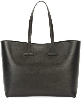 Tom Ford TOM FORD Saffiano Leather T Tote Bag