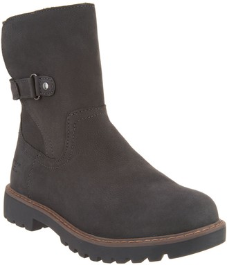 Cougar Leather Mid Boots with Plush Lining - Hettie