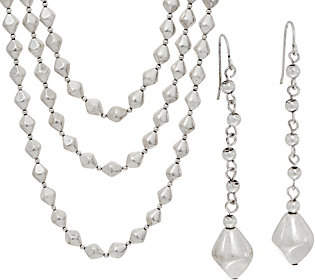 Linea by Louis Dell'Olio Etruscan Bead Necklaceand earring set