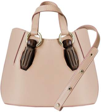 AEVHA London - Mini Garnet Tote In Taupe With Wooden Hardware