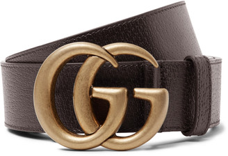 Gucci 4cm Black Full-Grain Leather Belt - Men - Brown