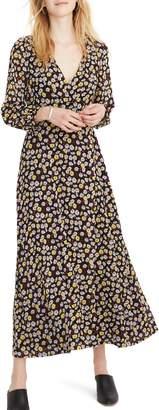 Madewell Long Sleeve Wrap Front Maxi Dress