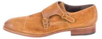 Magnanni Suede Double Monk Strap Shoes