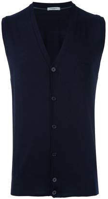 Paolo Pecora sleeveless v-neck cardigan
