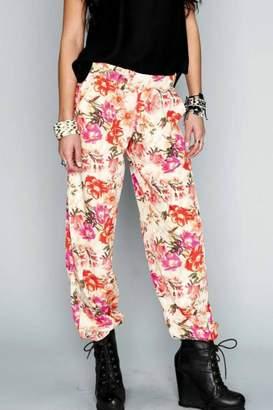 Show Me Your Mumu Print Scrunch Pants