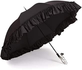 Gizelle Renee - The Nirvana Umbrella Frilly Long Black Umbrella