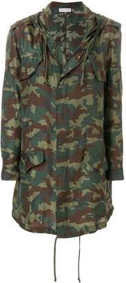 Faith Connexion camouflage print raincoat