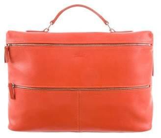 Longchamp Grained Leather Handle Bag