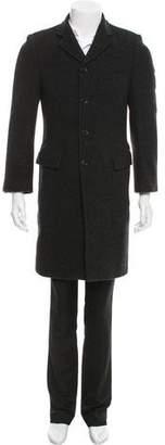 Dolce & Gabbana Virgin Wool Notch-Lapel Overcoat