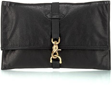 Rag & Bone Leather Clutch, Black