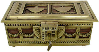 One Kings Lane Vintage Brass & Copper Footed Lock Box - Retro Gallery