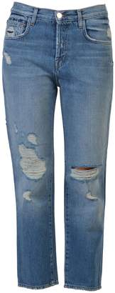 J Brand Ivy Jeans In Bleach Wrecked