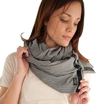 Nuroo Cover Up Nursing Scarf (Herringbone Ivory/black)