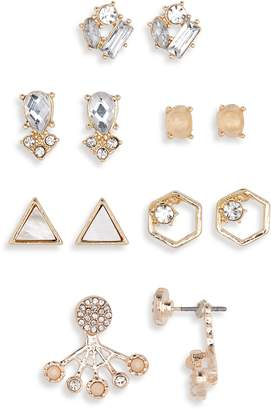 Carole 6-Pack Crystal Stud Earrings